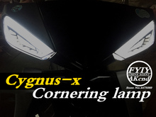 LED Del Motociclo Segnale di Girata Luci moto lndicator Per Scooter Yamaha Cygnus xc luce di nebbia moto Luci di Coda Freno Streamer