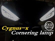 ไฟเลี้ยวLEDรถจักรยานยนต์ไฟรถจักรยานยนต์LndicatorสำหรับYamahaสกู๊ตเตอร์Cygnus XcหมอกMotoหางเบรคไฟStreamer