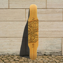 KOSTON pro 2015 new style dancing longboard deck  with hybrid material structure , long skateboard decks for board walking