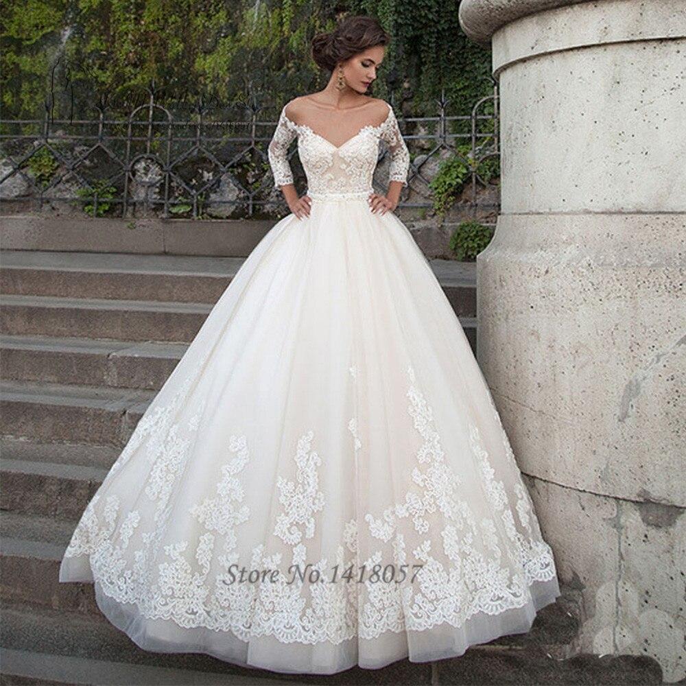 14087 20 De Réductionrobes De Mariée Arabes élégantes Turquie Vestidos De Noivas 2016 Robe De Mariée En Dentelle Princesse Robes De Mariée 34