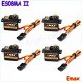 Бесплатная доставка 100% оригинал 4x EMAX ES08MA II Мини Metal Gear Аналоговый Сервопривод 12 г/2.0 кг/0.12 сек Mg90S