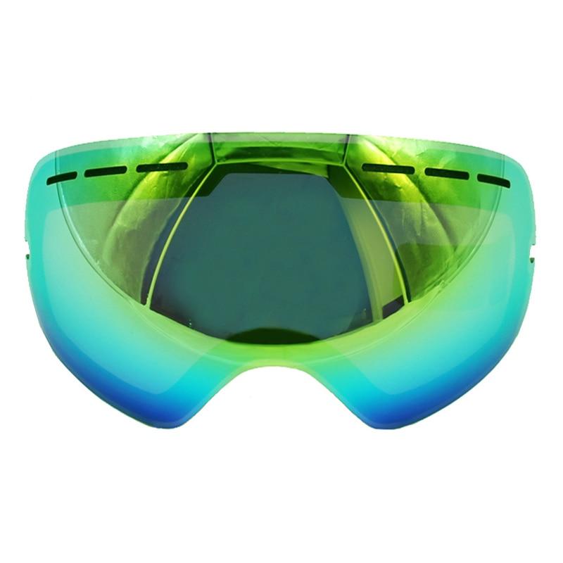 UV400 Анти-туман Лыжный Спорт очки Объектив Очки слабый свет Облачно яркости объектива для S-3100/gog-201/HB3/ l900 (только линзы)