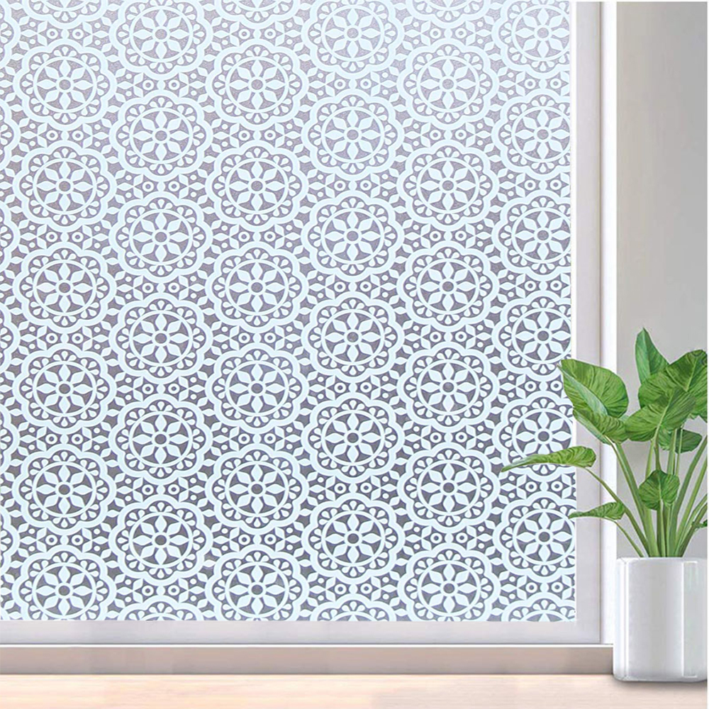 Dependable Funlife Window Film Non-adhesive Glass Window Sticker Paper Static Cling Vinyl Decorative Snowflake Pattern Flower Decal Panel Good For Energy And The Spleen Home Decor