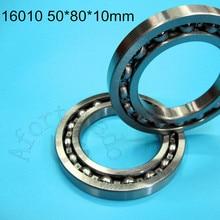 16010 50*80*10mm 1 Peça shippping livre rolamentos de aço cromado rolamento profundo do sulco