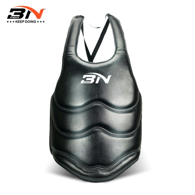 boxing chest GUARD thicken soft PU leather chest guard martial art mma taekwondo chester protector training fitness equipment