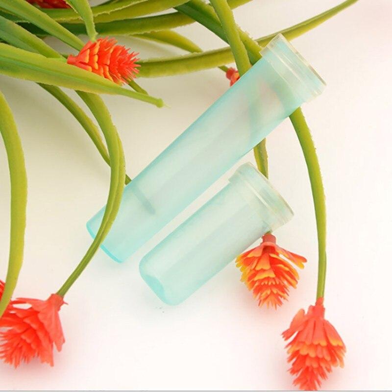 Garden Supplier 200pcs / 100pcs nutrition flower plastic tube water flower tube cap flower water container florist supplies Кубок
