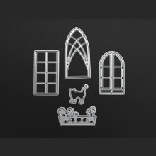 YLCD458 Window Door Metal Cutting Dies For Scrapbooking Stencils DIY Album Cards Decoration Embossing Folder Die Cuts Template(China)