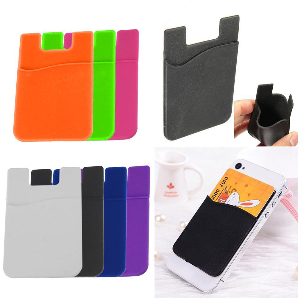 2019 Hot Sale Fashion Adhesive Sticker Back Cover Card Holder Case For Cell Phone Credit Back Holder