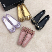 Melissa Women Jelly Sandals 2019 New Summer Shoes Women Casual Flat Fashion Butterfly knot Melissa Sandals For Women Size 35 39