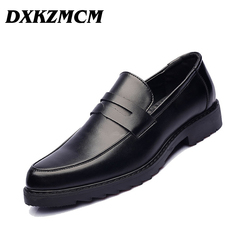 DXKZMCM Men Dress PU Leather Formal Business Oxfords Shoes Men's for Party