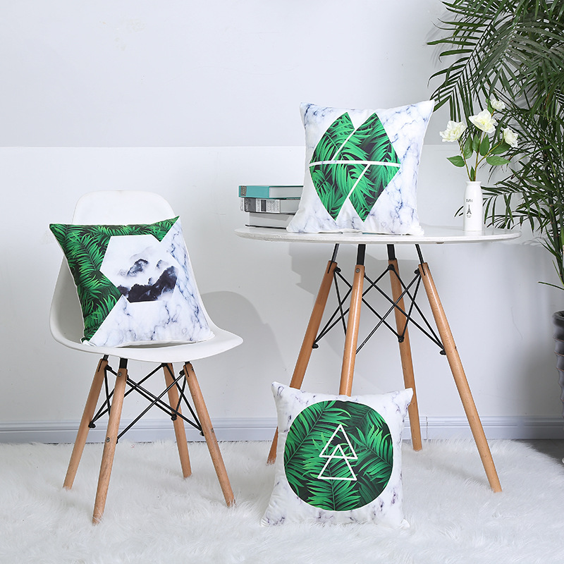 Marble Geometric Supersoft Velvet Pillow Cover Home Decor