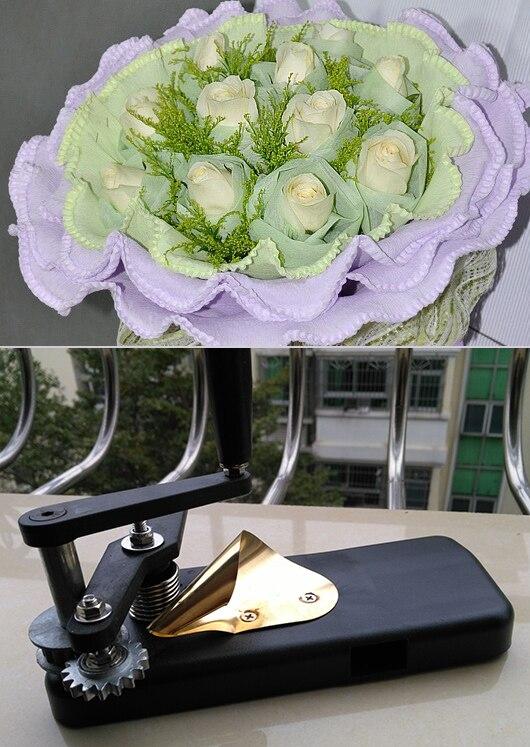 Fleurs emballage machine, Fleuriste à sertir, D'emballage pour fleurs outil, Froissé rouleaux, Curling papier, Grossier dents curling