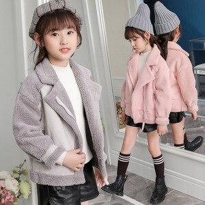 Image 5 - Manteaux et vestes en daim, molleton pour filles, manteaux pour enfants 4 10, taille ancienne, automne et hiver, 9GT018