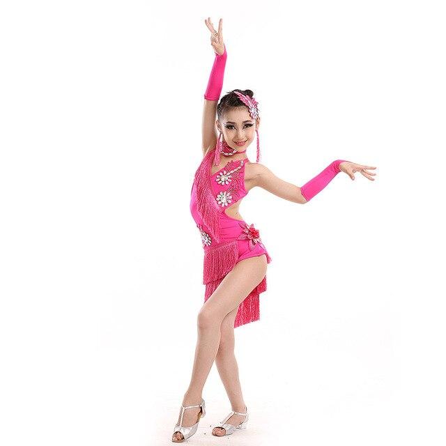 Blusa Feminina Sociale Salsa Dance Abiti Bambini Costumi Da Ballo Samba Vestito  Da Ballo Latino- d9389e1dbb6