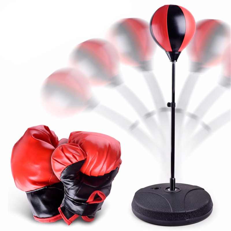 Children Adjustable Fitness Boxing Set Punch Pear Speed Ball Relaxed Boxing Punching Bag Speed bag Toys Outdoor gaming Tools