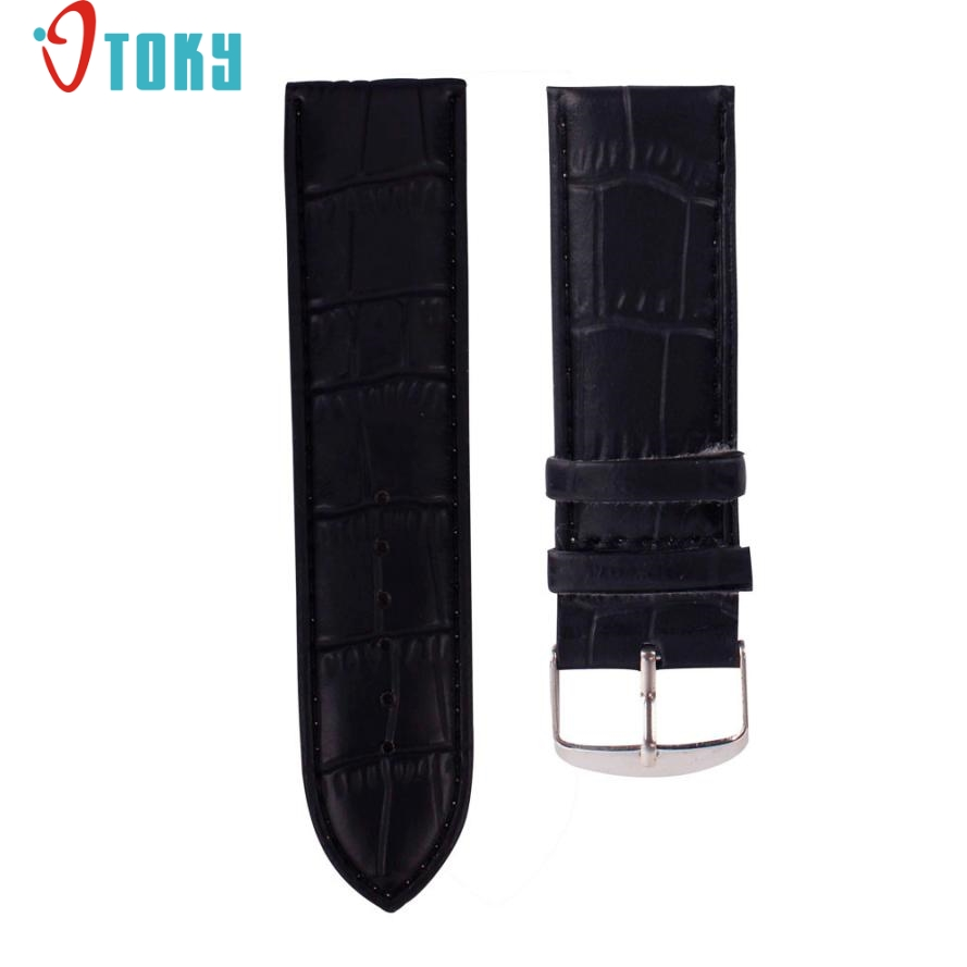 OTOKY Hot Unique 12mm Watchbands High Quality Soft Sweatband PU Leather Strap Steel Buckle Wrist font