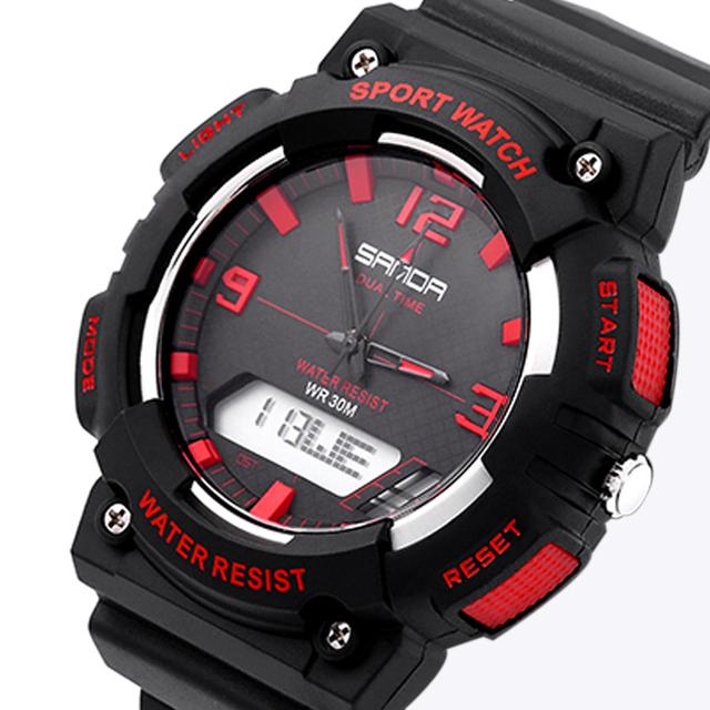 Sanda moda homens relógio G estilo à prova d ' água LED esporte militar relógios relogio masculino homens de choque de quartzo analógico Digital Watch