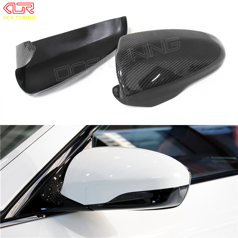 For BMW M Series F10 M5 F12 M6 2012 2013 2014 2015 2016 - on Add On Style & Replacement Style Carbon Fiber Mirror Cover replacement car styling carbon fiber abs rear side door mirror cover for bmw 5 series f10 gt f07 lci 2014 523i 528i 535i