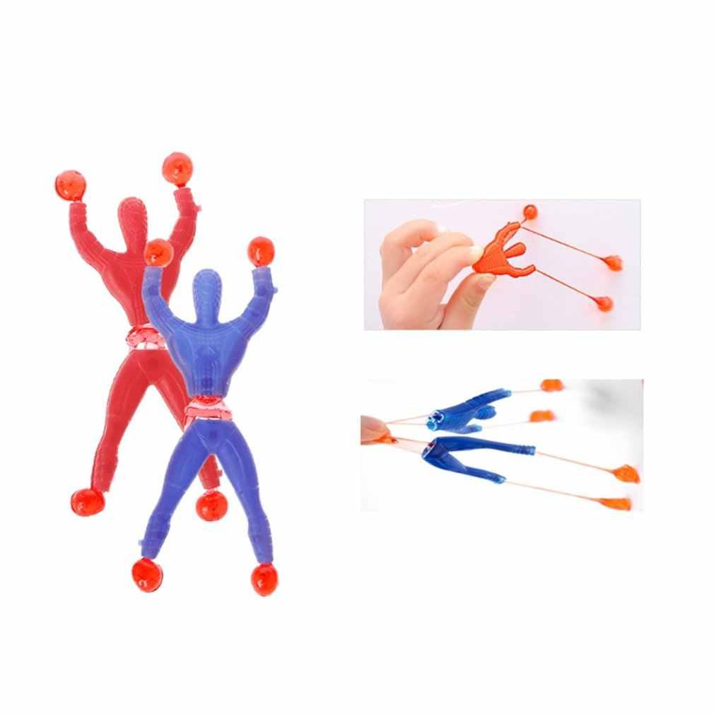 ของเล่นเด็ก Climbing Wall แมงมุมเหนียวแผงลอยอุปกรณ์ปีนเขา slime หนืด Climbing Spider-Man ออกแบบสีสุ่ม