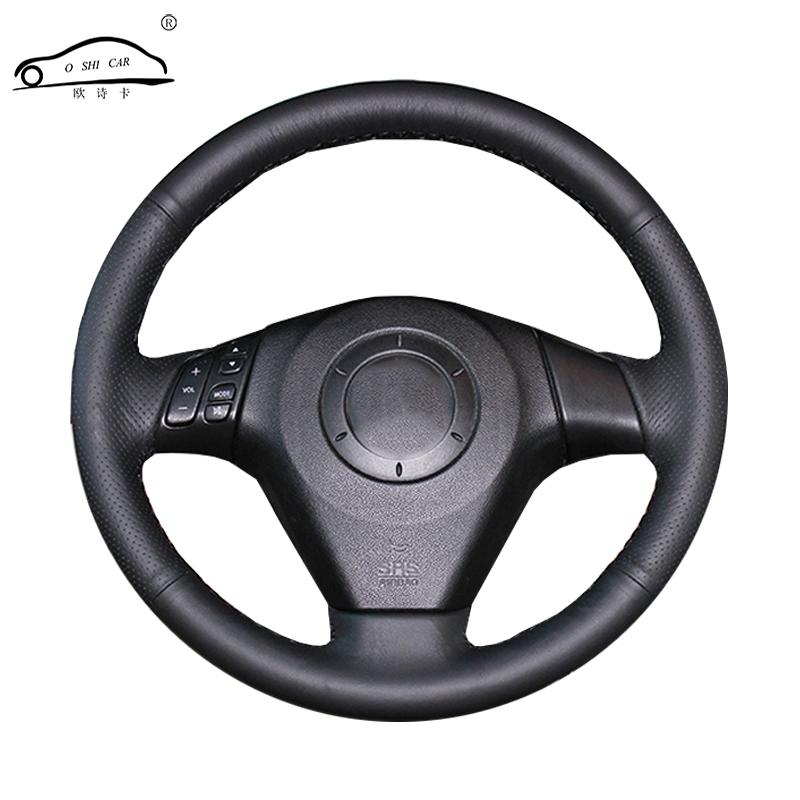 Artificial Leather Car Steering Wheel Cover For  Old Mazda 3 Mazda 5 Mazda 6 2003-2009/Custom Made Dedicated Steering-Wheel
