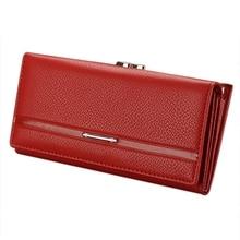 2017 High quality Brand PU Leather Wallet Women Purse Long 9 cm wallet women Button Hasp Wallet Womens Purse carteira feminina