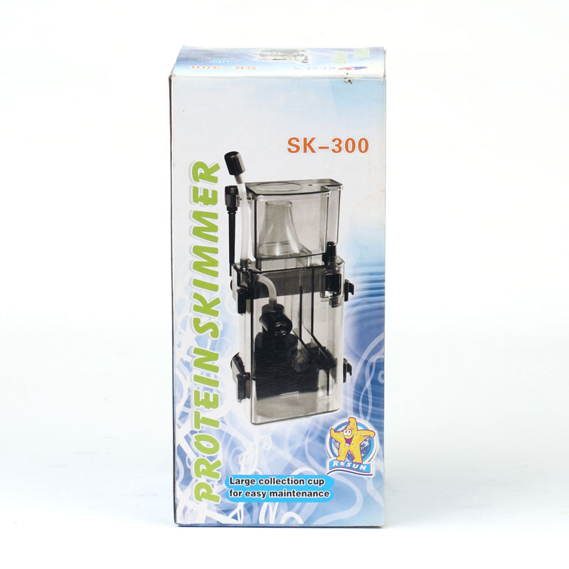 Accessoires de système de filtre de réservoir de poissons d'aquarium marin d'écumeur de protéine RESUN SK-300 3.5W 300 L / H