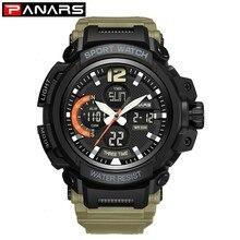 PANARS Luxury Military Watch Men Sport Stopwatch Wristwatch Mens Digital Watches Water Resistant Electronic  reloj Led hombre