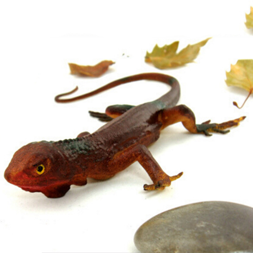 34cm Rubber Lizards Trick Toy Practical Jokes Toys Simulation Lizards Fool Day Prank Toys Mischievous Small Animals