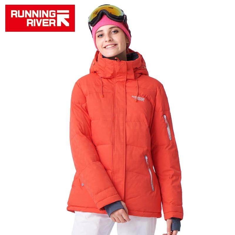 RUNNING RIVER Brand Winter Ski Jacket  For Women 4 Colors Size S - 3XL Waterproof  Classic Short  Winter Jacket Women #L4995