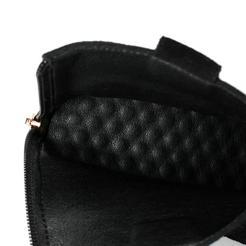 39 Daim Zipper Bottes Noir Talon Sélections De Les Femmes brown Taille Qutaa Carré 34 2019 Toutes En Mode Vache Cheville Chaussures D'hiver w7nfHW4Iq