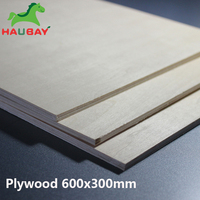 HAUBAY Basswood Plywood 600x300x1.5/2/3mm Basswood Plywood Wide Sheets Crafting Wooden for airplane boat ship Christmas Deals