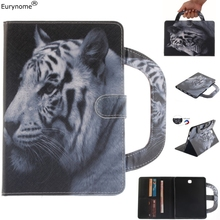 Case For Samsung Galaxy Tab S2 8.0 T710 T715 Tiger Handbag Wallet Pu Leather Stand Case Cover for Samsung SM-T710 T715 case аккумулятор для samsung galaxy tab s2 8 0 t710 t715 3900mah cs cameronsino