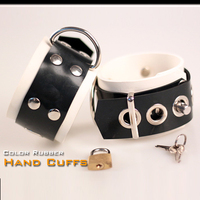 (DM5534) Natural Latex Pure Handmade Rubber Hand/Wrist Cuffs Red The Alternative Slave Bandage Can Be Locked Rubber Fetish