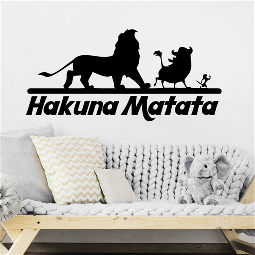 Us 5 99 Lion King Wall Decals Quotes Vinyl Sticker Decal Nursery Hakuna Matata Home Decor Kids Room Living D1000 In Stickers