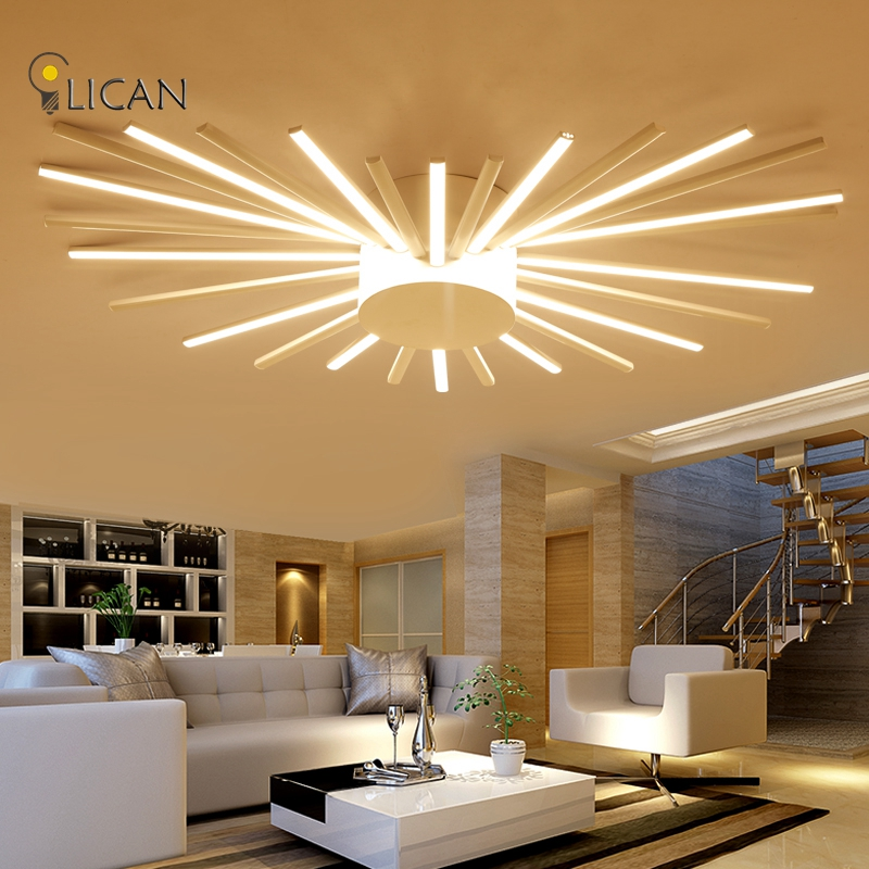 LICAN Modern LED Ceiling Lights For Living Room Bedroom Ceiling Lamp Fixture  Acrylic Ceiling Lights Remote