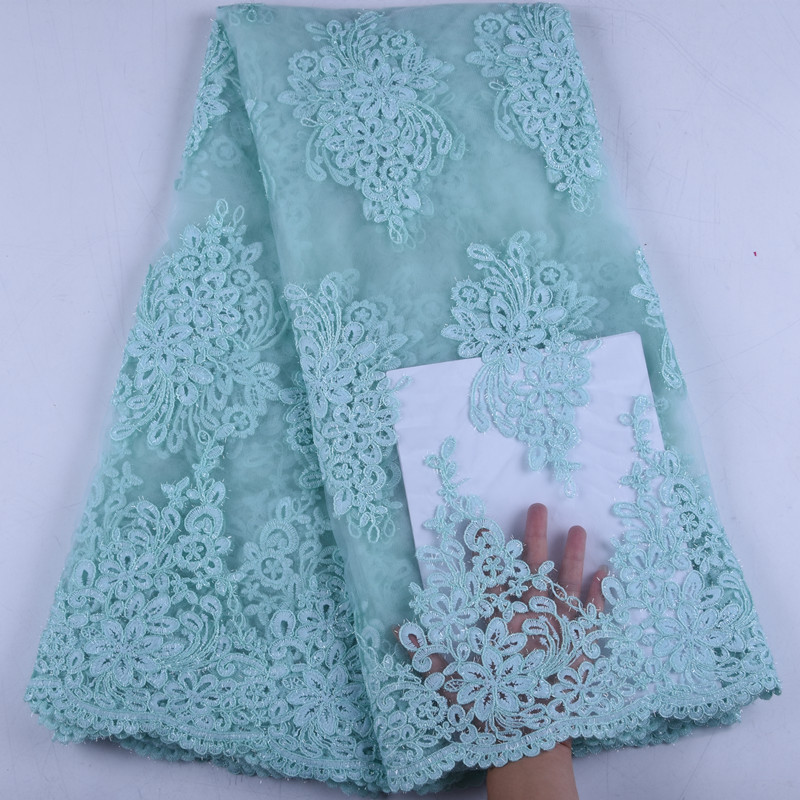 Embroidered Net Lace African French Lace Fabrics High Quality Nigerian French Net Lace For Wedding Party