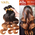 9A Brazilian Virgin Hair 1pc/Lot 100% Unprocessed Human Hair Extensions Ombre Body Wave Hair 1B/4/30 Ombre Brazilian Hair