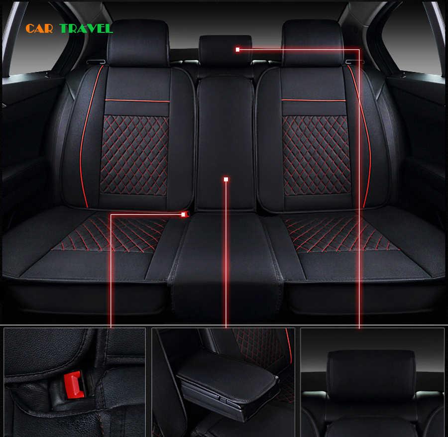 Новинка, автомобильные универсальные чехлы из искусственной кожи (передняя + задняя) для Volkswagen vw passat b5 b6 b7 polo 4 5 6 7 golf tiguan styling