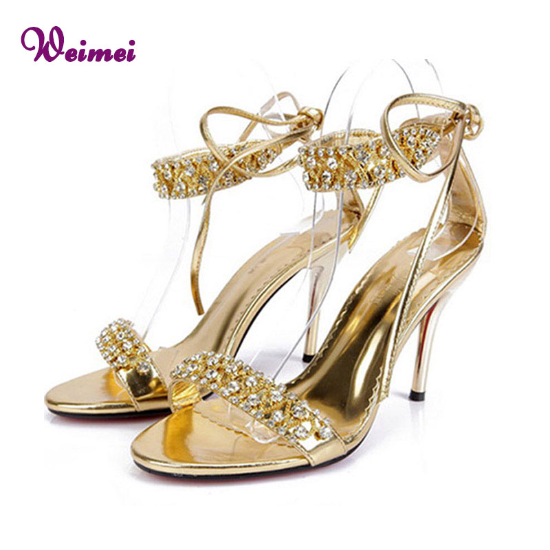 Online Get Cheap Gold Strappy Heels Shoes -Aliexpress.com ...