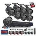 Главная Безопасность HD 1080N 8-КАНАЛЬНЫЙ ВИДЕОРЕГИСТРАТОР 8 ШТ. 1.0MP 720 P AHD Высокое Разрешение Камеры ВИДЕОНАБЛЮДЕНИЯ Системы Видеонаблюдения Комплект 1 ТБ HDD