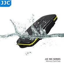 JJC مقاوم للماء غلاف بطاقة ذاكرة حامل التخزين المنظم ل CF SD SDHC SDXC مايكرو SD XD SXS XQD بطاقات صندوق لكانون نيكون