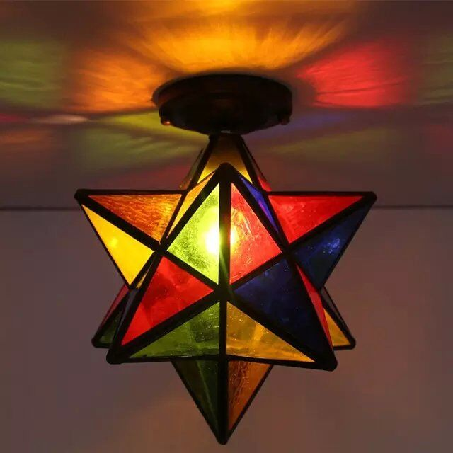 light colorful Star ceiling lamps personality for living room restaurant bar corridor entrance balcony ceiling lights DF58light colorful Star ceiling lamps personality for living room restaurant bar corridor entrance balcony ceiling lights DF58