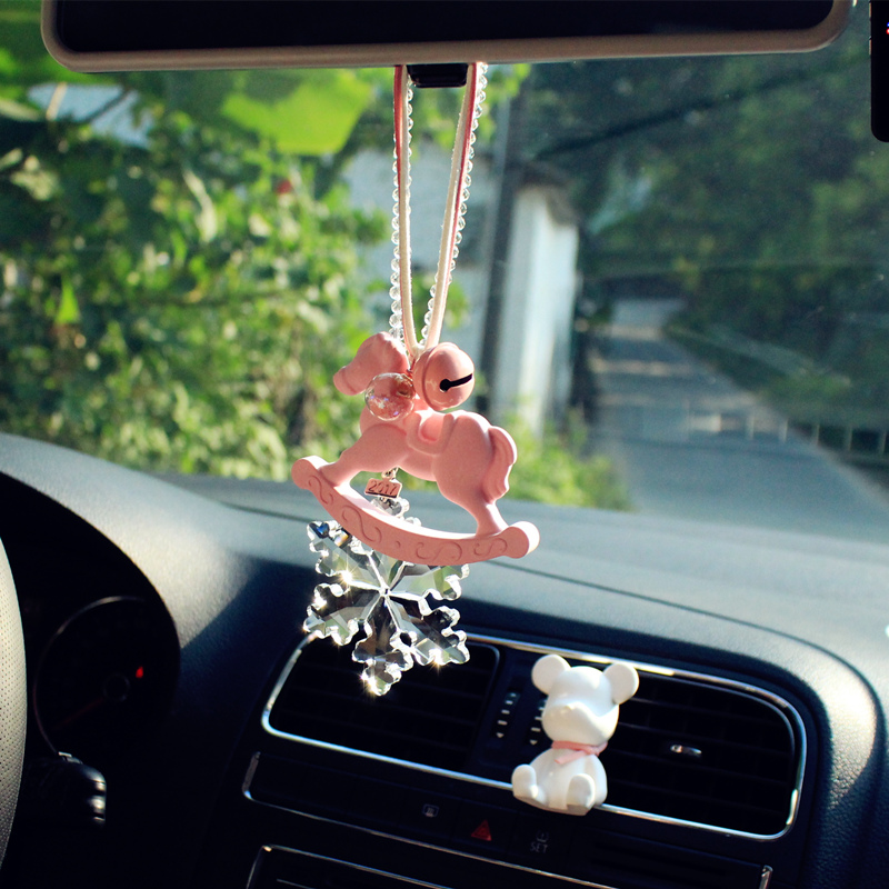 lovely car hangs decoration female upscale contracted small horse fresh gypsum pink peace pet wedding dies Arts Crafts Home