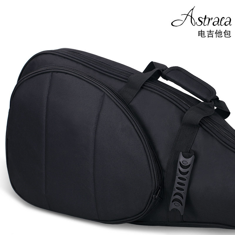 Astraea Electric Guitar Bass Bag Waterproof 600D Nylon Oxford 10mm Extra Thick Double Straps Soft Case Length 105/125cm astraca deluxe brown black 40 41 acoustic guitar bag 600d nylon oxford guitar soft case gig bag 10mm thicken
