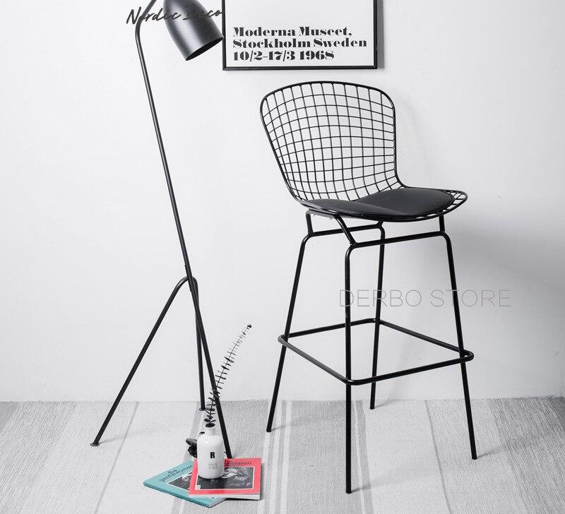 Superb Us 168 0 64Cm Seat Height Classic Modern Design Bertoia Wire Bar Stool Chair Loft Metal Steel Wire Counter Stool Chair Famous Chair 1Pc In Bar Beatyapartments Chair Design Images Beatyapartmentscom