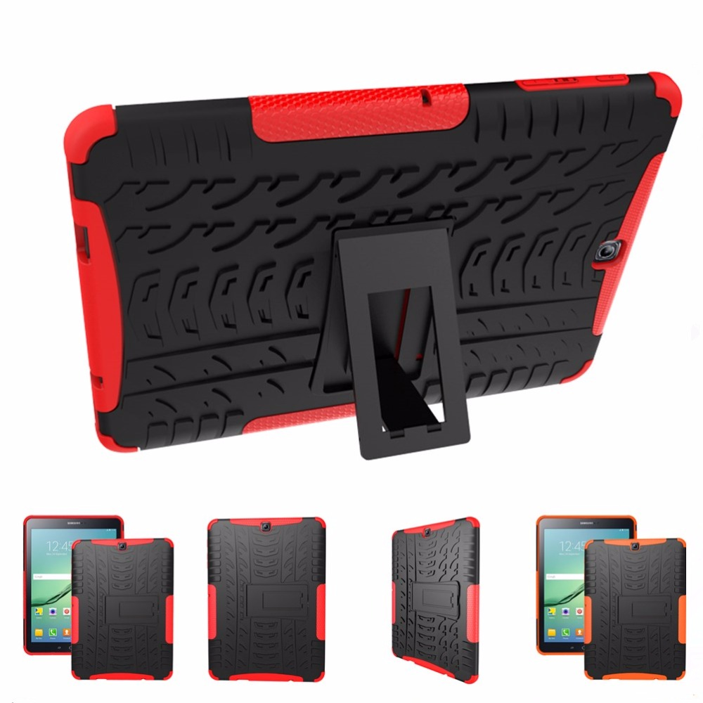 low priced e4d0c 8acb9 US $11.64 14% OFF|For Samsung Galaxy Tab S2 9.7 T810 T815 Heavy Duty Hybrid  Armor Kickstand Hard Cover For Galaxy Tab S2 9.7