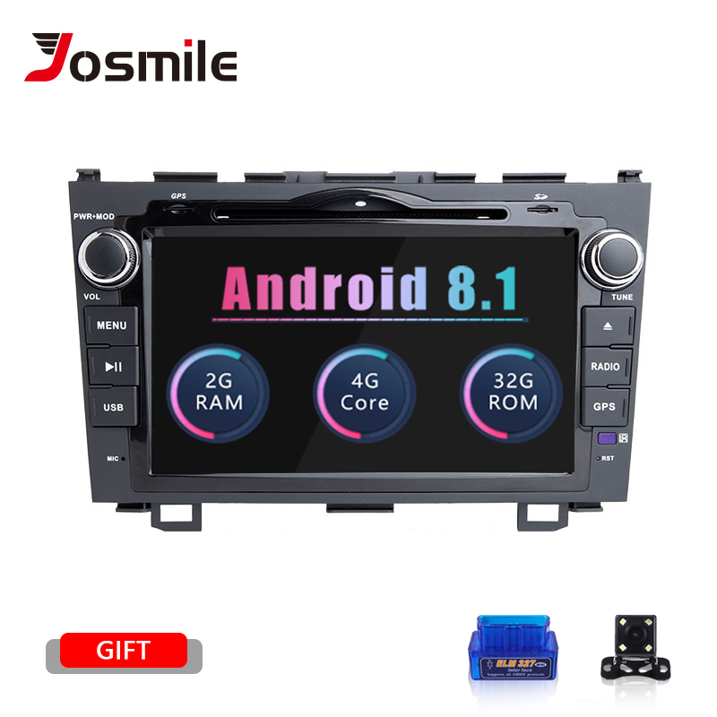 Josmile 2 Din Android 8.1 Auto DVD Player Für Honda <font><b>CRV</b></font> CR-V 2006 2007 <font><b>2008</b></font> 2009 2010 2012 GPS AutoRadio Band recorder Audio Wifi image