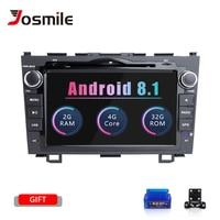 Josmile 2 Din Android 8.1 Car DVD Player For Honda CRV CR V 2006 2007 2008 2009 2010 2012 GPS AutoRadio Tape Recorder Audio Wifi