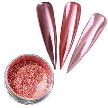 Gül altın ayna tırnak Glitter krom etkisi Pigment 100% gerçek ayna toz gül altın krom etkisi Pigment (w) gül altın krom
