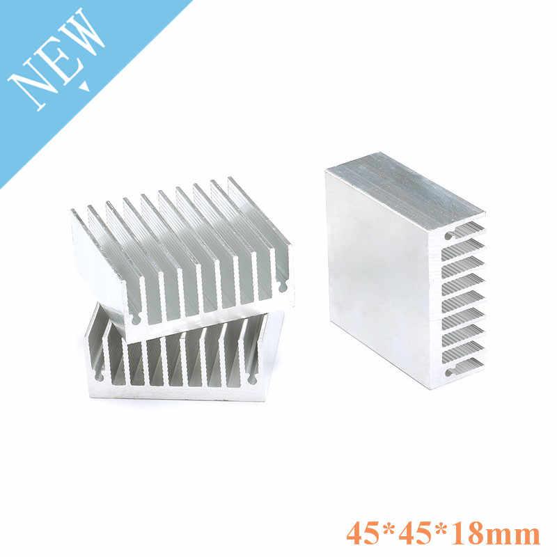1 радиатор для ПК 45x45x18 мм алюминиевый усилитель мощности Радиатор высококачественный радиатор модуль радиатор специально для охлаждения